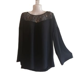 Lyase Black Lace Blouse size sm